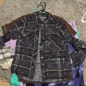 Grey plaid shirt